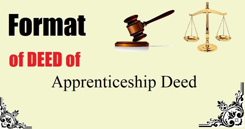 Apprenticeship Deed Format