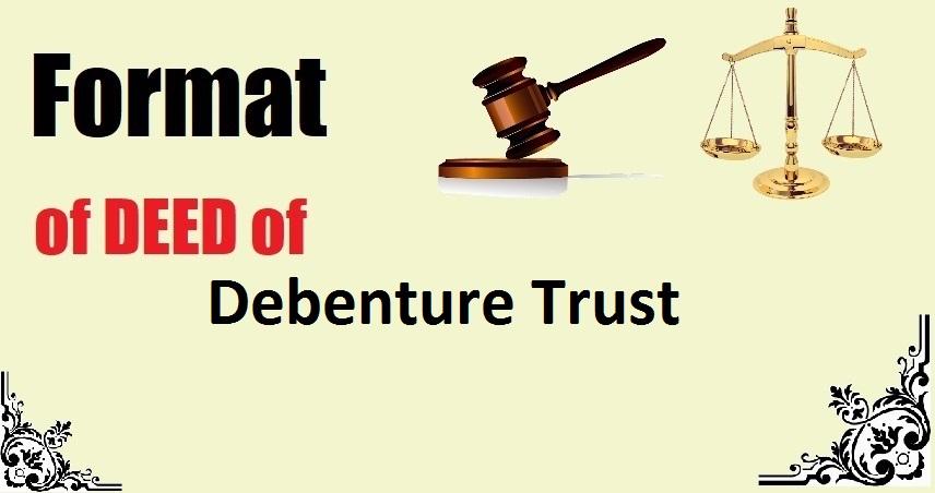 Debenture Trust Deed Format