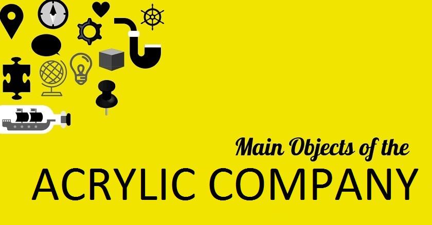 MAIN OBJECT OF ACRYLIC COMPANY - MAIN OBJECT OF ACRYLIC COMPANY