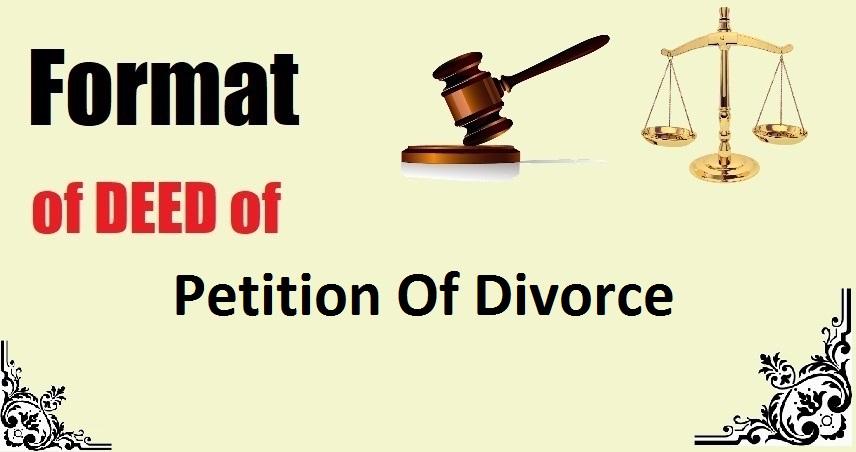 Petition Of Divorce Deed Format