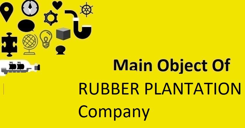 Main Object Of RUBBER PLANTATION Company