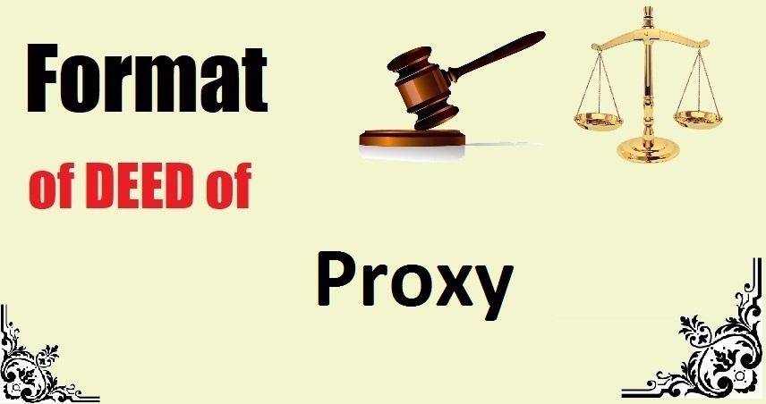Proxy Deed Format